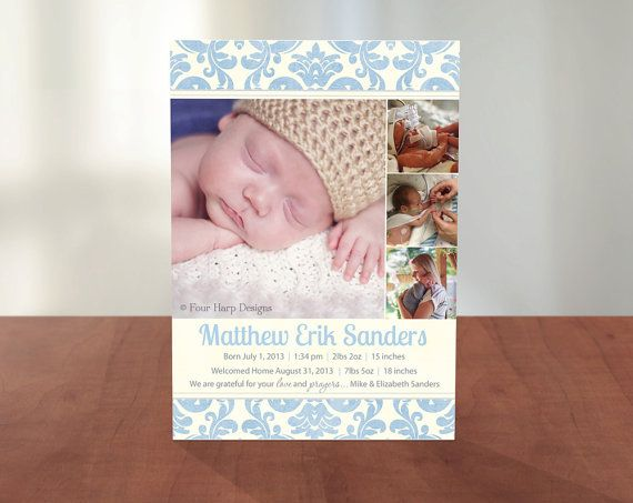 Preemie baby announcements Baby Girl Rose VP – Preemie Birth Announcements