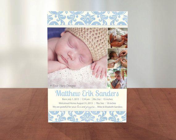 Preemie baby announcements Baby Girl Rose VP – Preemie Birth Announcements