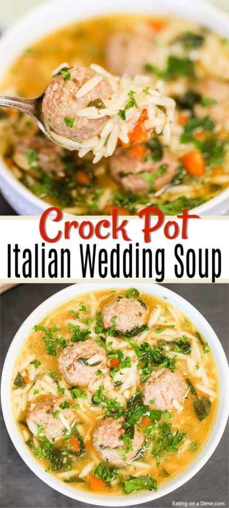 Crock Pot Italienische Hochzeitssuppe