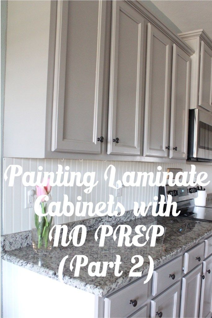 Painting Laminate Cabinets with NO PREP WORK (Part 2) | DIY Projects ...