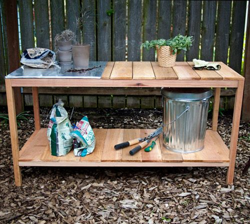 Planting Bench--I really need one of these No idea where I would