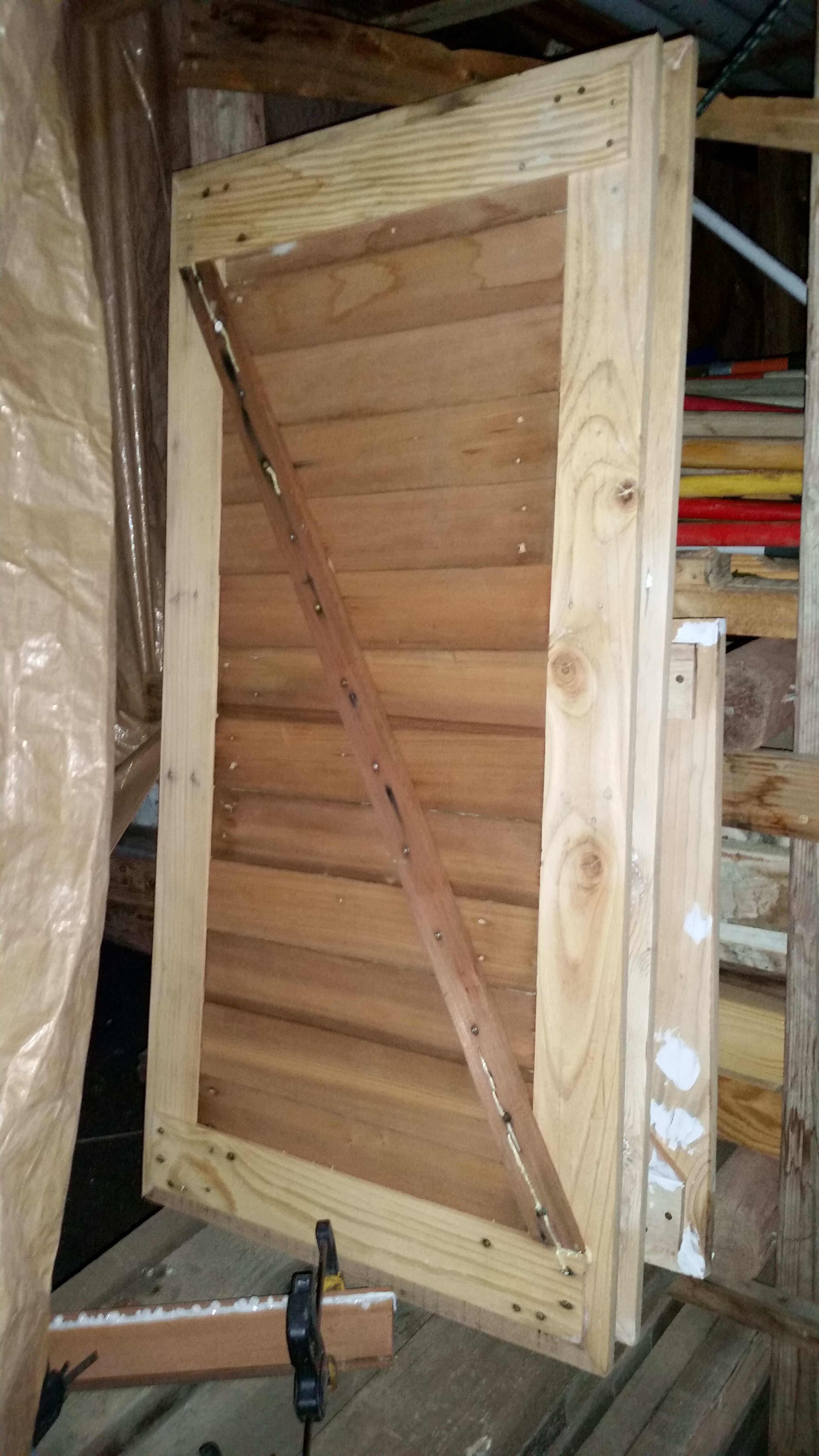 Shed Dutch-doors From Recycled Pallets & 1920's Redwood ...