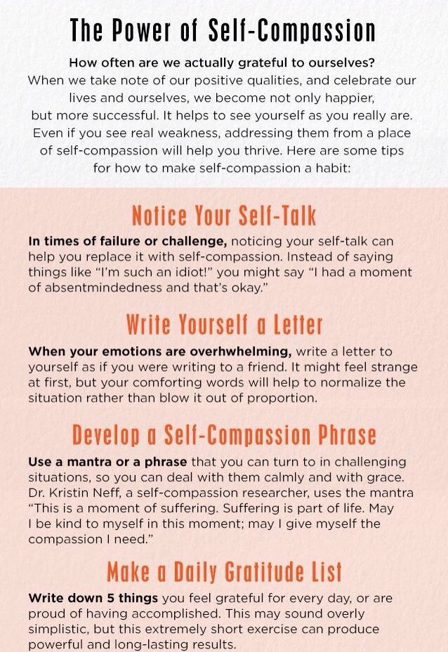 The power of Self compassion.