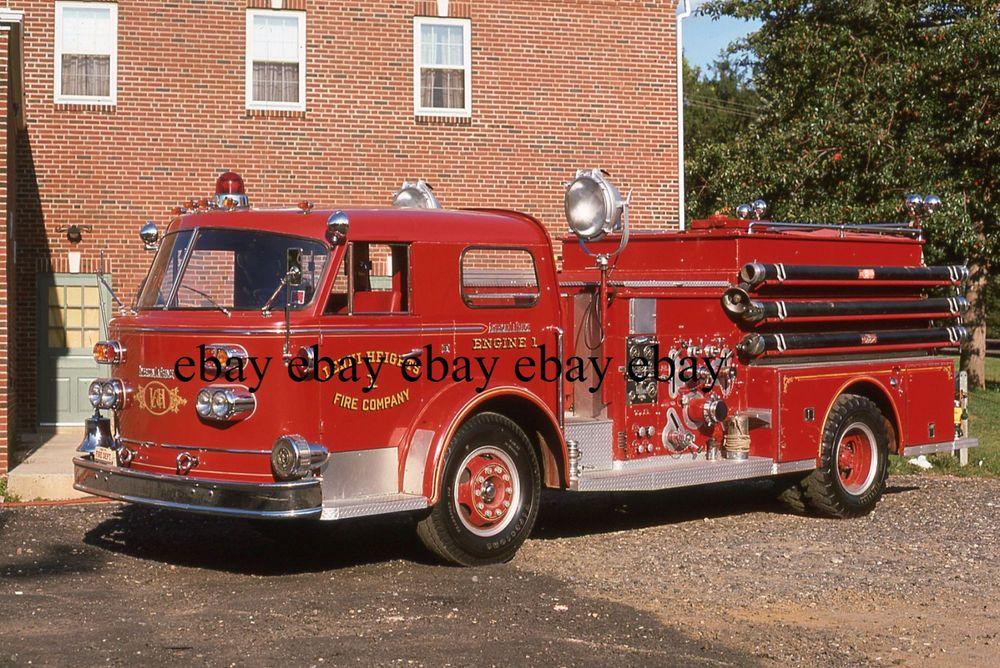 Fire Apparatus Slide - Lenni Heights PA - 1958 American LaFrance
