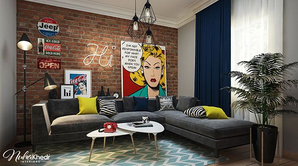 Living Room Pop Art On Behance Pop Art Decor Living Room Styles Living Room Art