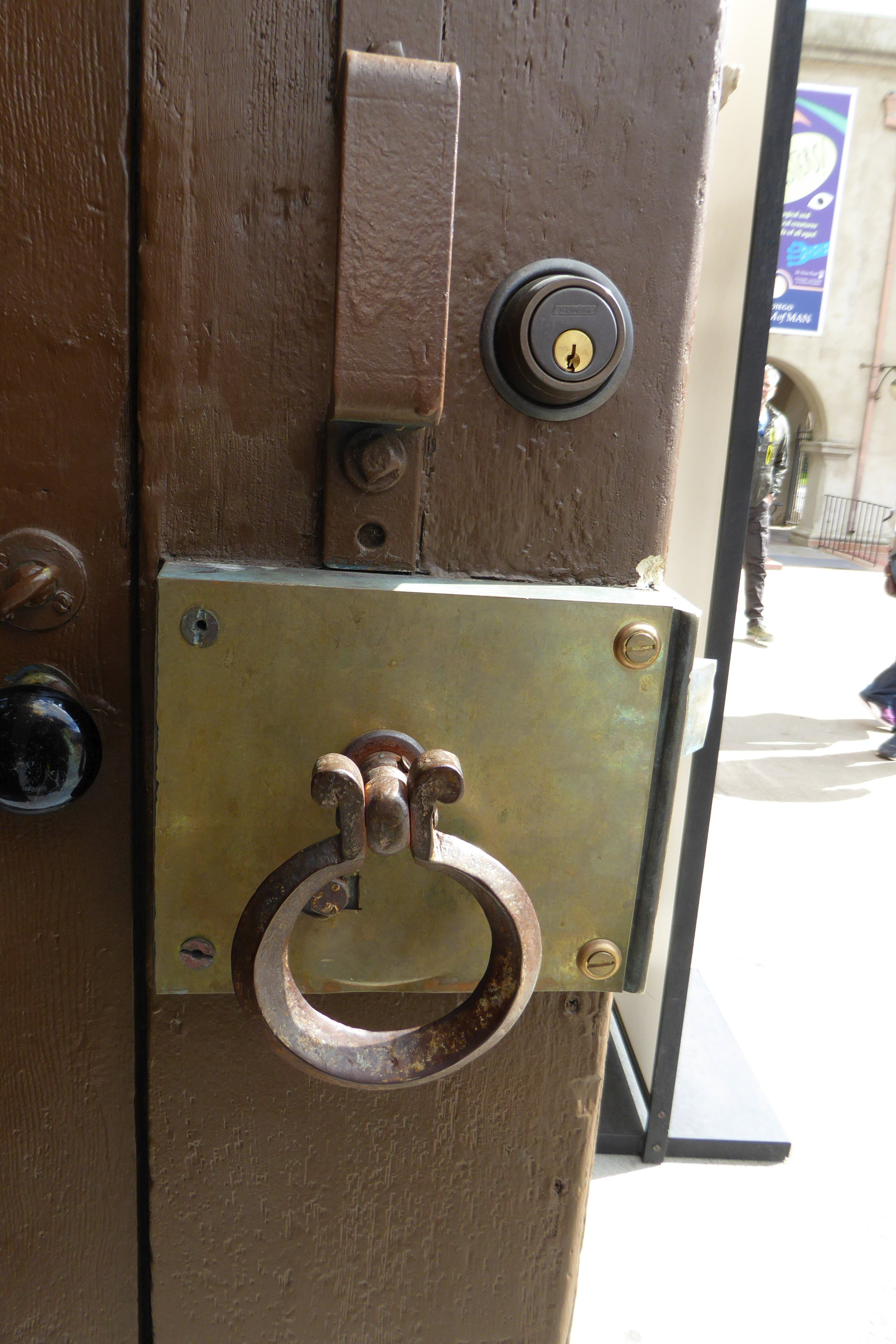 Front Door Handle At The San Diego Museum Of Man A Museum Of Anthropology Located In Balboa Park San Diego Front Door Handles Door Handles Landmark Buildings