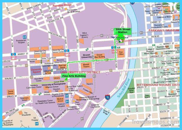 cool Map of Philadelphia Travelsmaps Pinterest United states