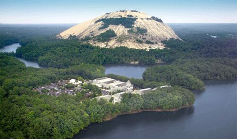 stone mountain in georgia is an actual pyramid that contains the