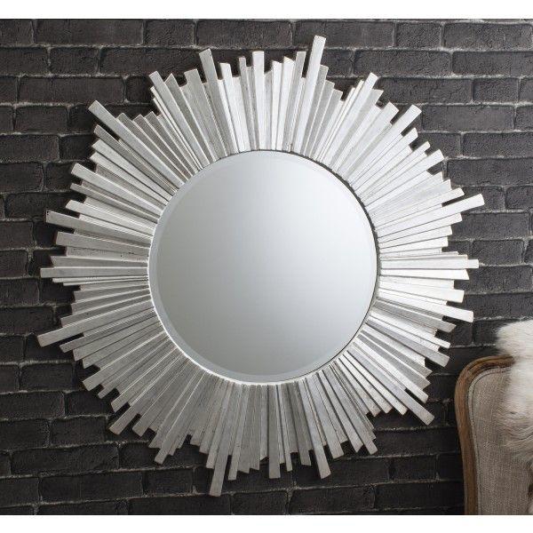Herzfeld Large Silver Round Wall Mirror