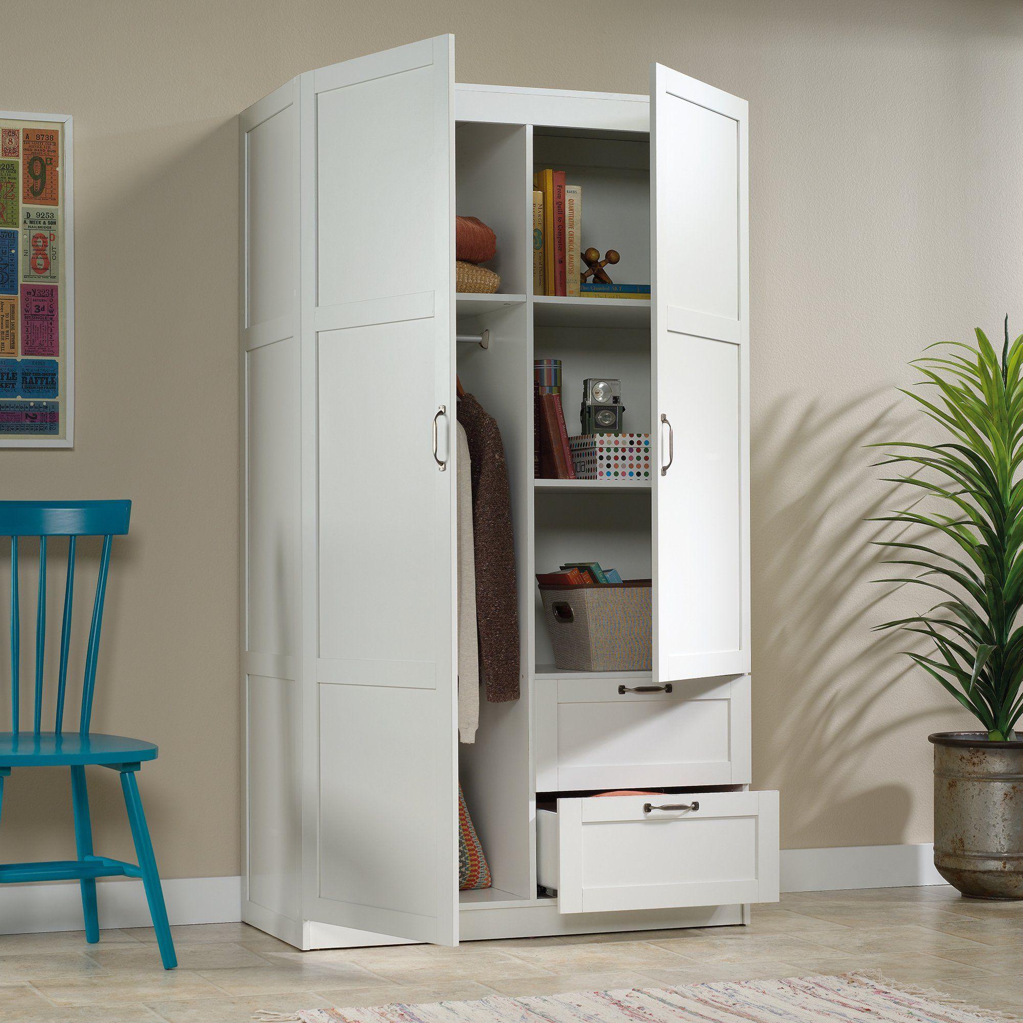 Sauder Select Wardrobe Armoire, White Finish - Walmart.com in 9