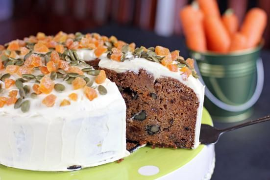 Carrot Cake Studded With Walnut Pumpkin Seed And Apricot Carrot
