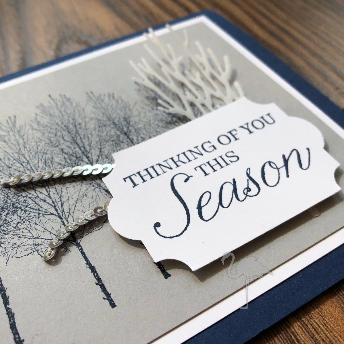 Winter Woods with a touch of vellum and silver | Stampin Up Only ...