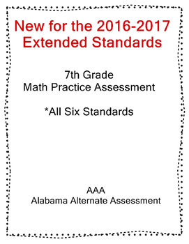 7th Grade Math Extended Standards Practice Test Alabama Al