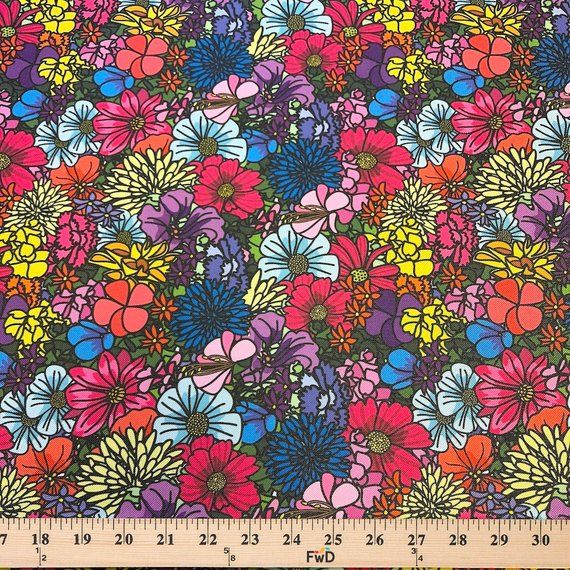 Ottertex Printed Canvas Fabric Waterproof Outdoor 60 Wide 600 Denier By The Yard Meadow Canvas Fabric Prints Canvas Prints