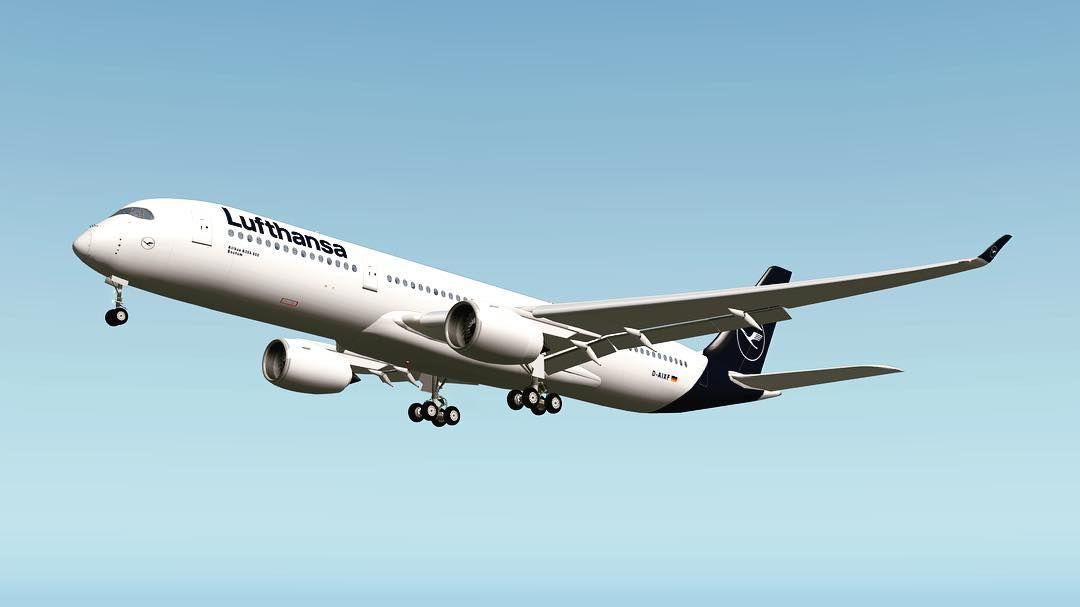 Lufthansa Airbus A350-900 X plane 10 #lufthansa #xplane10