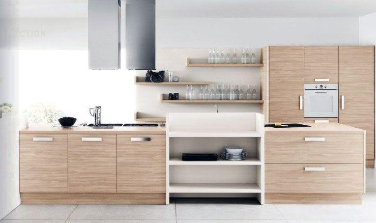 Modern White Oak Kitchen Furniture Set Modern White Oak Kitchen