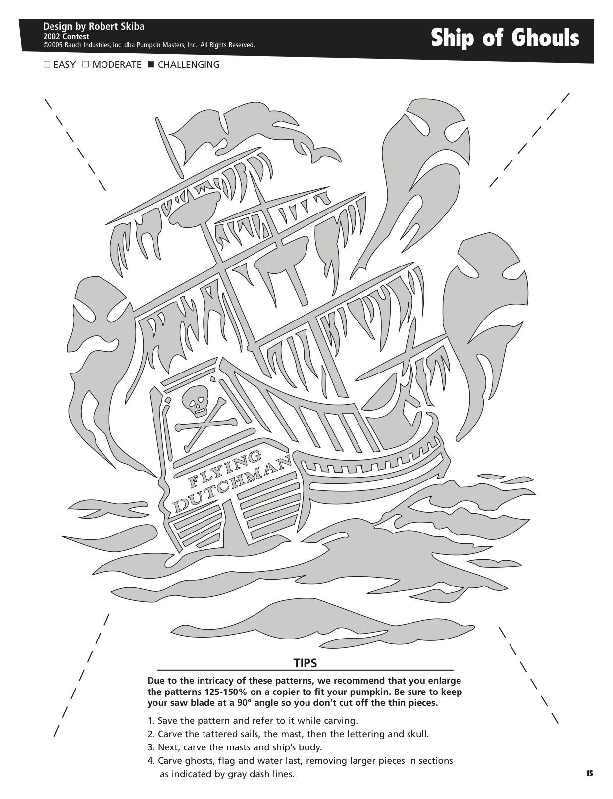 Ship of Ghouls free pattern by Pumpkin Masters. Want to print this ...