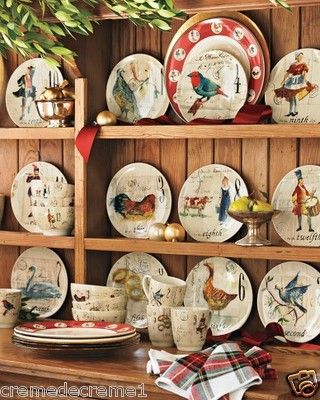 Williams Sonoma Christmas Plates.Williams Sonoma 12 Days Of Christmas Salad Dessert Plate S
