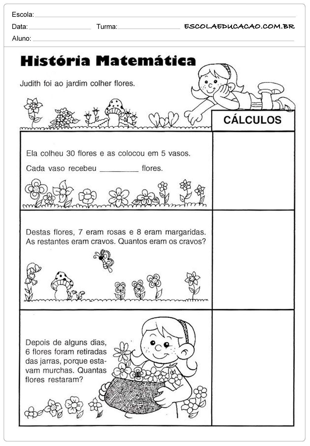 Atividades De Somar E Subtrair Historia Da Matematica Com Imagens