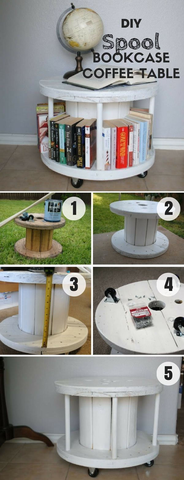 Check out this easy idea on how to build a #cablespooltables