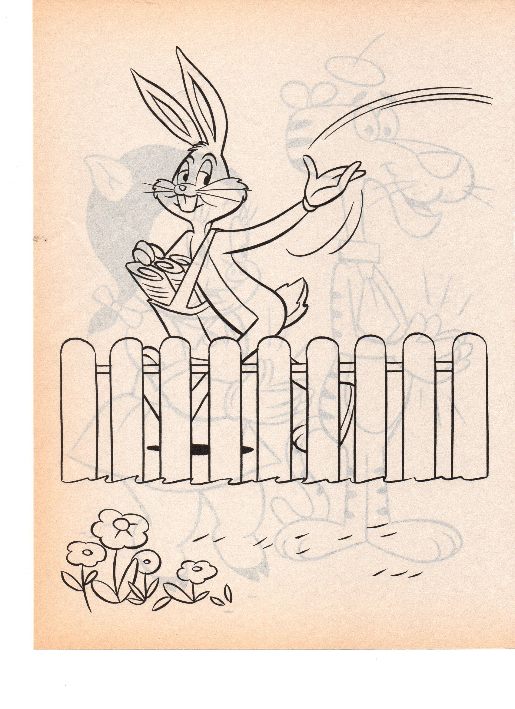looney tunes bugs bunny coloring pages pinterest bugs bunny