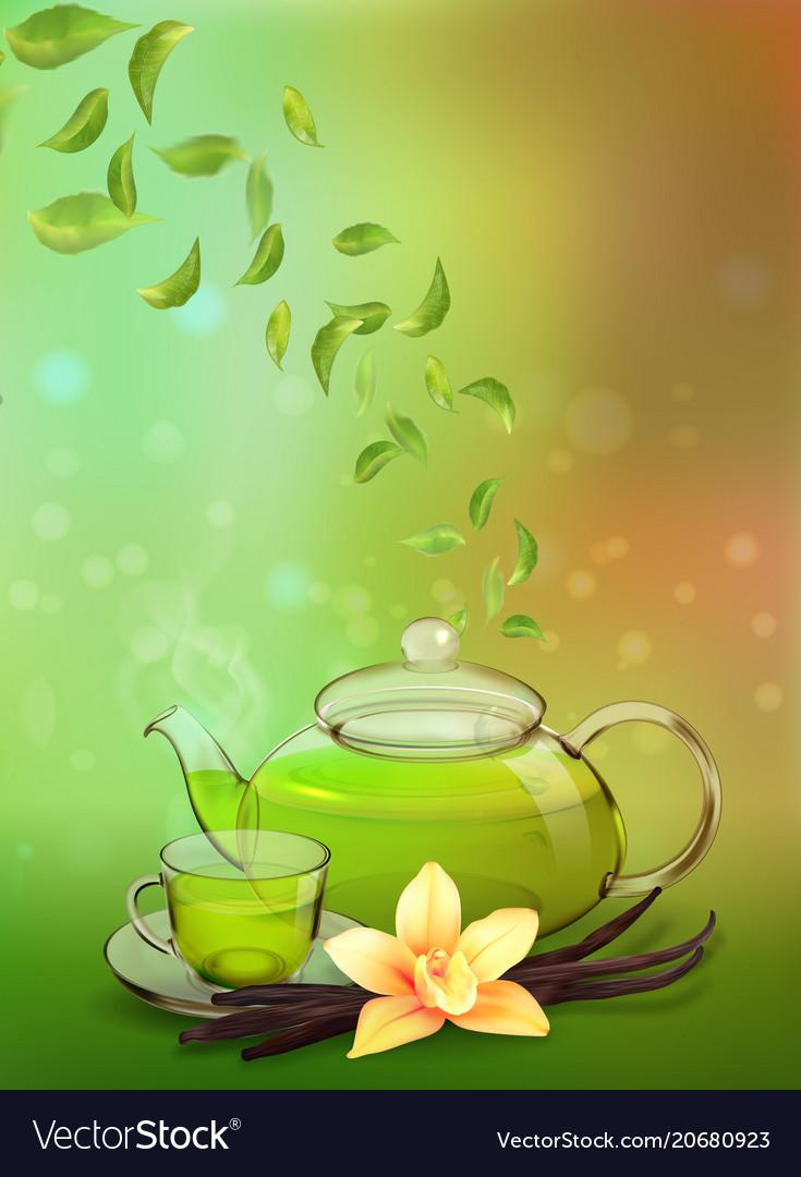 Tea Advertising Flyer Poster Or Banner Template Vector Image Advertising Flyers Tea Wallpaper Banner Template
