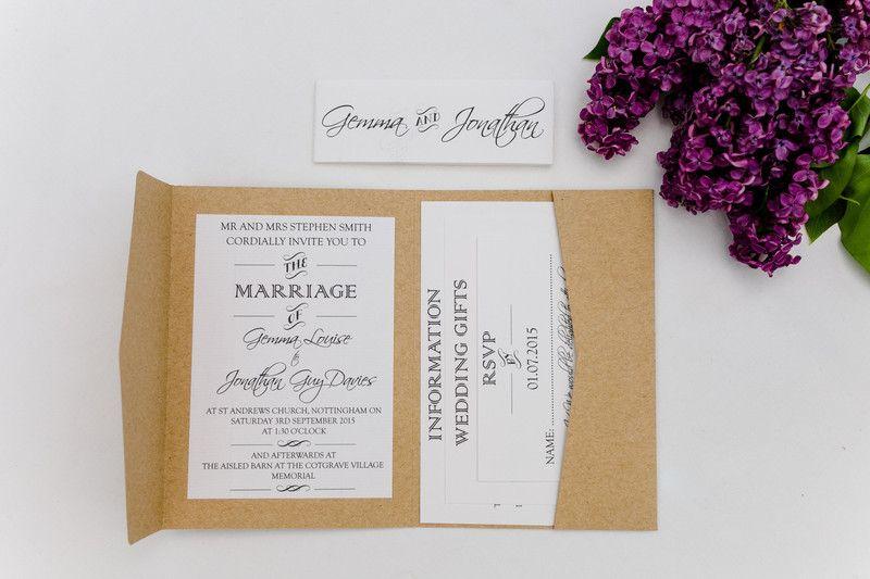 """Einladungskarte+""""Straw""""+Versandfertig+von+Button+Moments+by+jujo+auf+DaWanda.com"""
