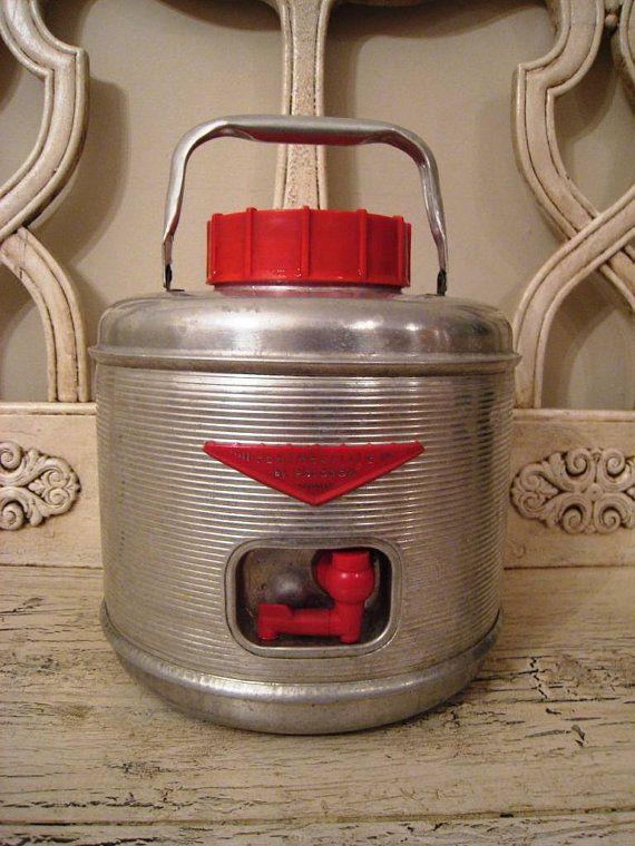 Vintage Aluminnum Jug Cooler - Featherlite | vintage picnic