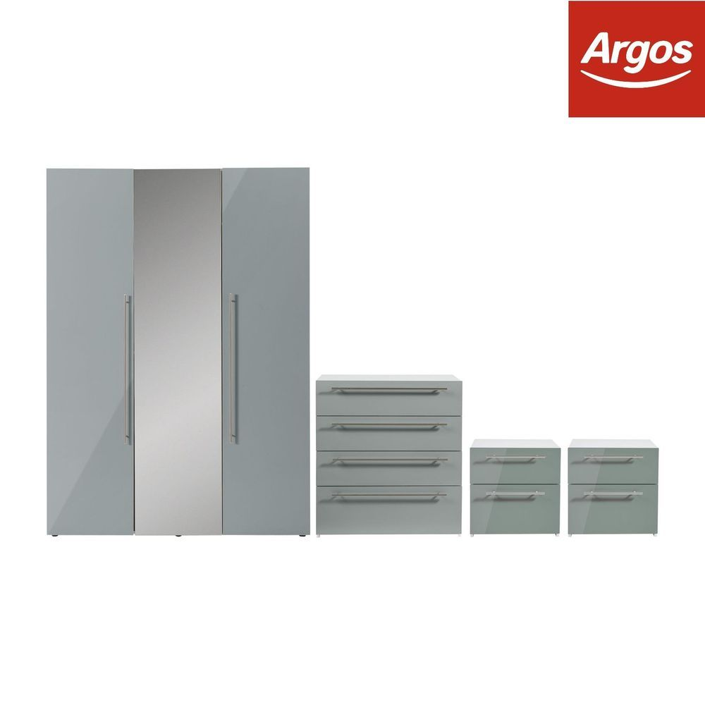 argos bedroom furniture. Hygena Atlas 4 Piece Bedroom Furniture Package - Grey Gloss. From Argos On Ebay O