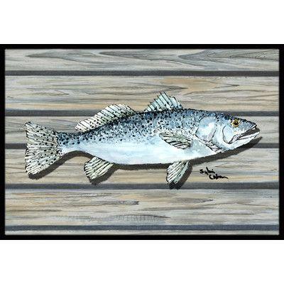 Caroline's Treasures Fish Speckled Trout Doormat Rug Size: 2' x 3'