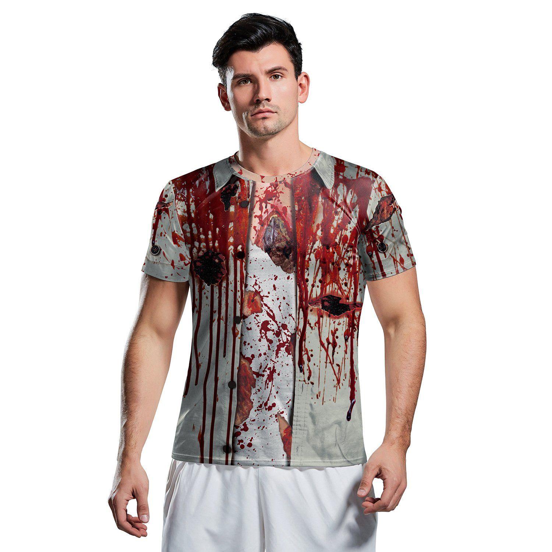 Halloween 3D Horror Zombie Print Short Sleeve T-shirt