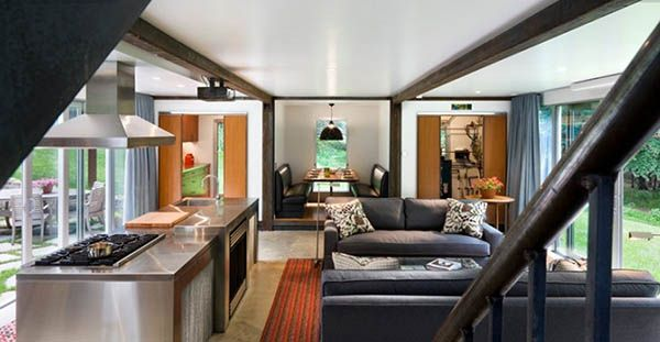Interior Double Storewy Shipping Container Home