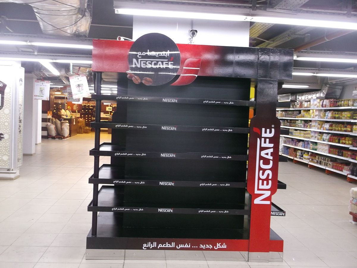 Nescafe pillar on Behance Nescafe, Pillars, Lobby