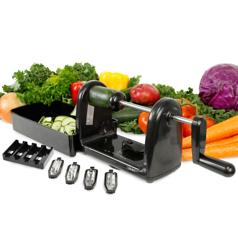 Us Kitchen Supply Spiral Master Ez Vegetable Cutter With 5