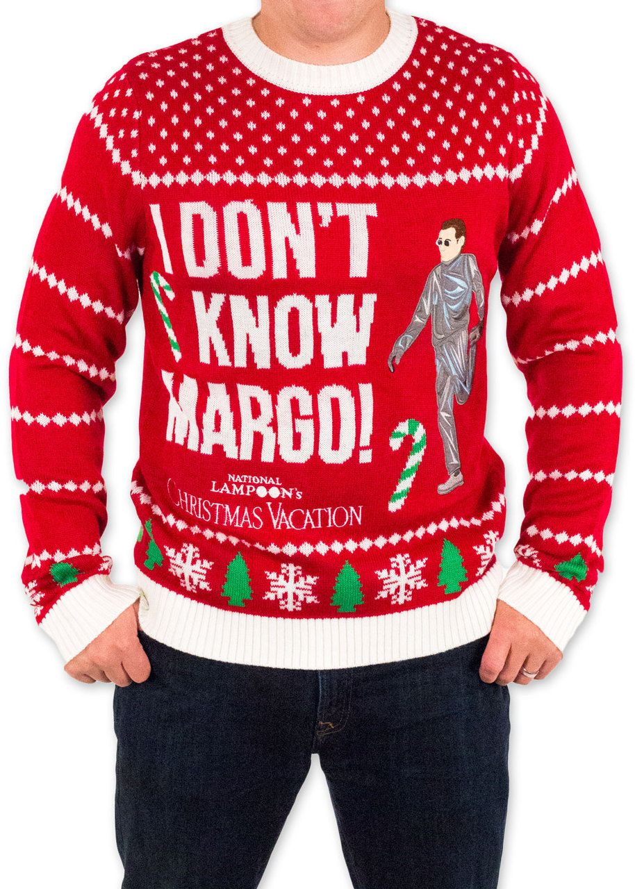 festified mens christmas vacation i dont know margo sweater in red christmasvacation griswold clarkgriswold christmas uglychristmassweater festified - Griswold Ugly Christmas Sweater