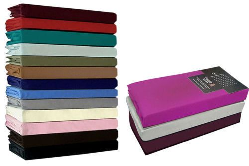 LUXURY PERCALE Pair Of Pillow Cases Top Quality New 18 Colours