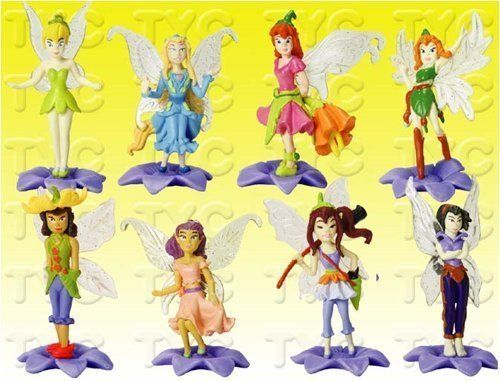 """Disney Fairies 1"""" Figure Set (8 / Set) by Disney. $6.99. Fairies included: Tinker Bell, Vidia, Fira, Bess, Prilla, Beck, Rani, and Lily. For age 3 and up. 8 fairies in the set. 8 fairies in the set. Fairies included: Tinker Bell, Vidia, Fira, Bess, Prilla, Beck, Rani, and Lily. For age 3 and up.. Save 77%!"""