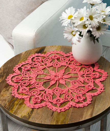 Exquisite Flower Doily Free Crochet Pattern In Aunt Lydias Crochet