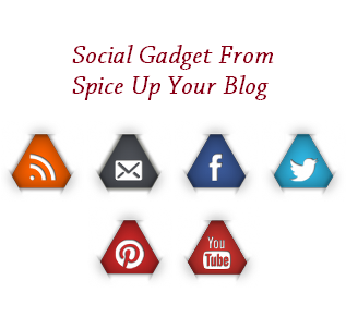 So here I have a Subscribe and Follow section for your blog using a neat set of triangle social icons.You can add the icons with links to your feed and profiles to your sidebar on Blogger and Wordpress.