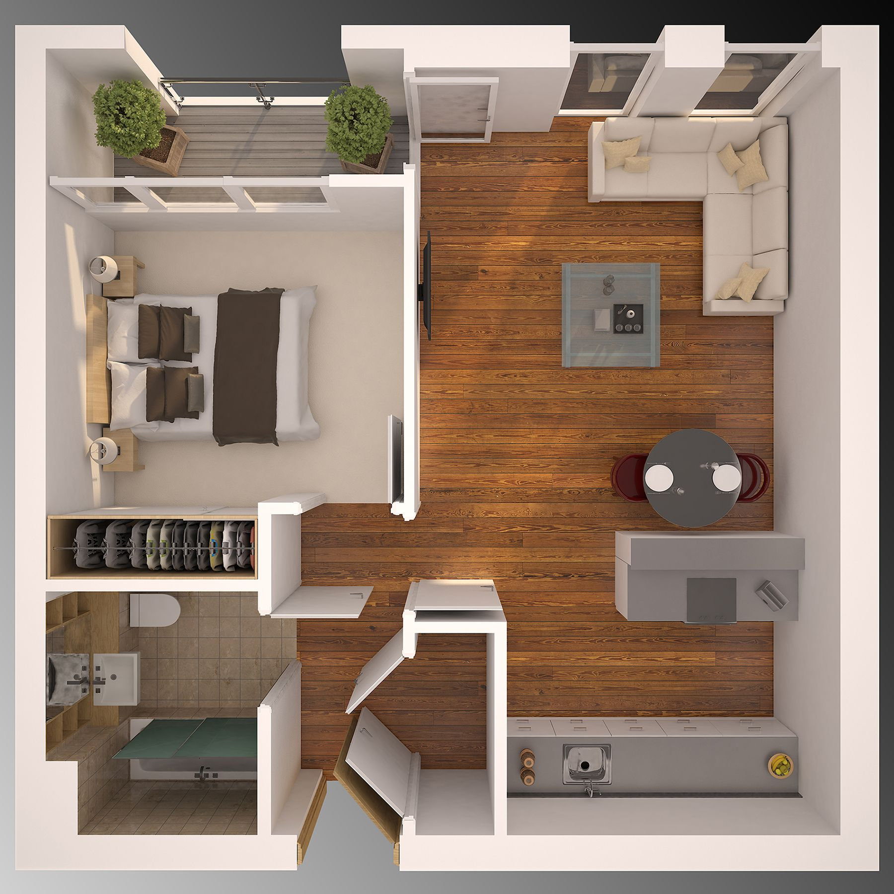 3D Floor Plan Vray 3ds Max Affter Effect And Photoshop Together