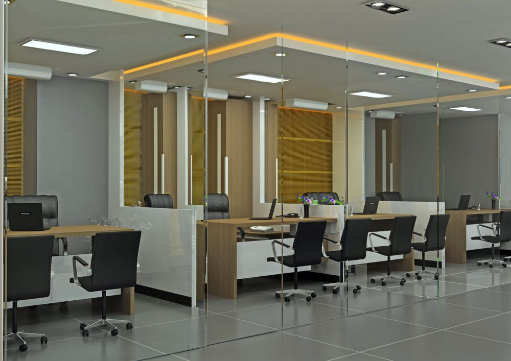 3D Office Interior Design photo