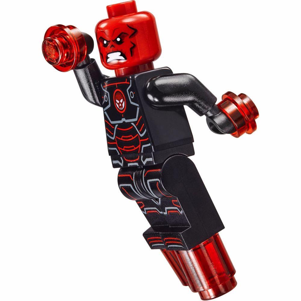 Lego Marvel Superheroes Iron Skull minifigure super heroes iron man red skull