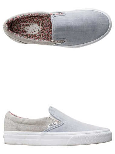 a11ef70954 VANS FLORAL CHAMBRAY CLASSIC SLIP-ON SHOE | K I C K S in 2019 | Vans ...