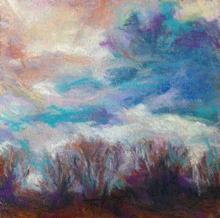 "SHADOWED - 6"" x 6"" landscape pastel by Susan E. Roden©; http://www.susanroden.blogspot.com"