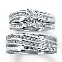 Matching Ring Set Kay Jewelers Trio Wedding Sets Engagement Ring Wedding Band Womens Engagement Rings