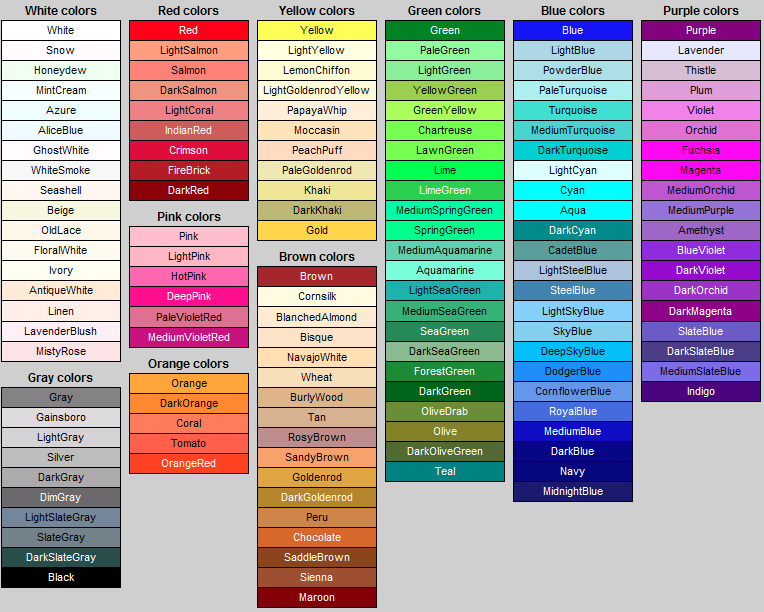 Colour Names Inspiration Pattern Pinterest Design Color Your Name