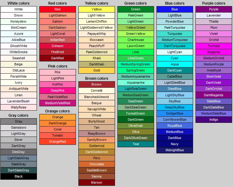 Картинки по запросу colors name in english | Иностранный