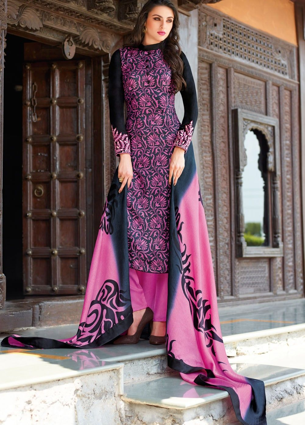 Order #Online, This Splendid Art Tussar Silk Suit with Pashmina ...