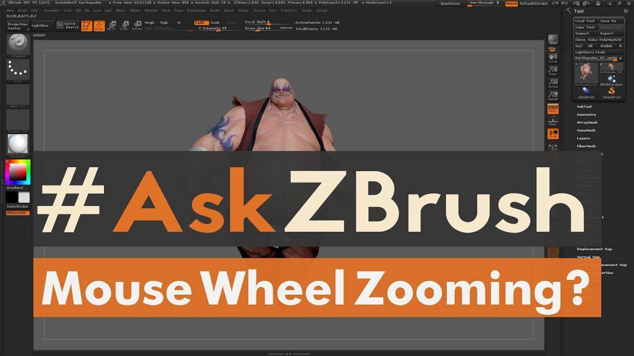 Photoshop mouse wheel zoom