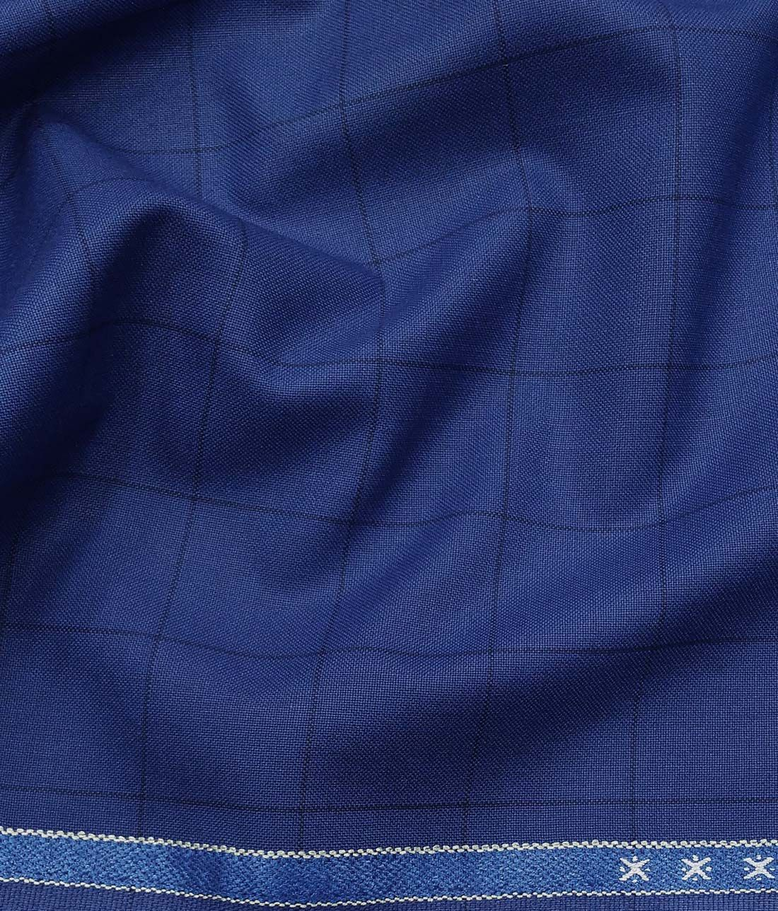 9a26f1402 Combo of Raymond Royal Blue Checks Trouser Fabric With Exquisite White  Cotton Blend Shirt Fabric (Unstitched)
